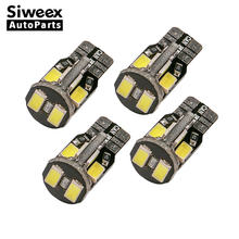 4pcs T10 Super Bright 10-SMD 168 194 5730 LED Warm White Bulbs Car Number Lights Instrument Panel Lamp License Plate Lights(China)