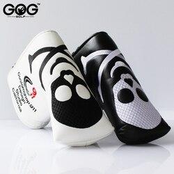 GOG Neue Zwei Farben Schädel PU Golf Headcover für Klinge Golf-Putter Kostenloser Versand schwarz weiß putter headcover