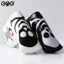 GOG nowe dwa kolory czaszki PU Golf Headcover dla Blade Golf miotacz Darmowa wysyłka czarny biały miotacz Headcover tanie tanio GT1004