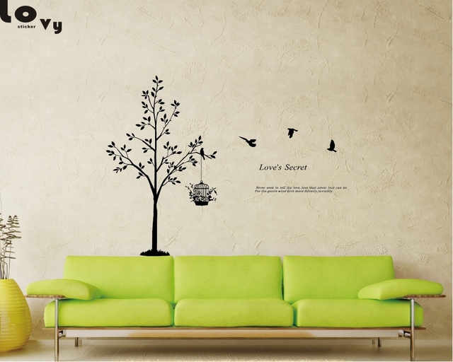 Still Life Family Tree Vinyl Wall Sticker Love\'s Secret Quotes Wall ...