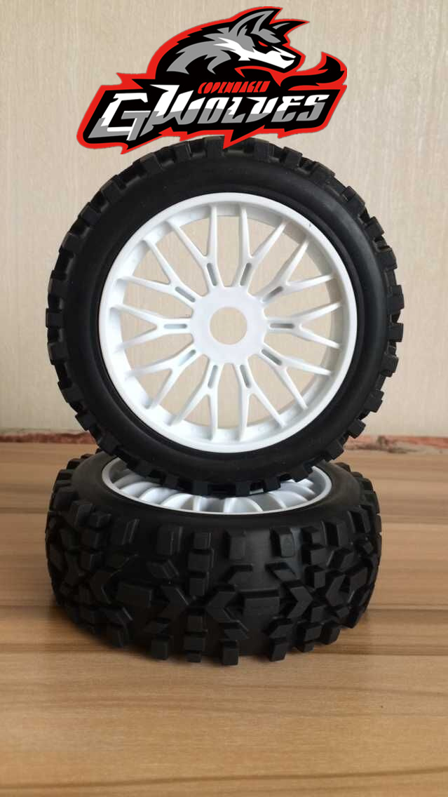 4pc GWOLVES 1/8 RC Buggy Truck Off-Road Tyre Nylon plus hard wheels Pathfinder wasteland all terrainwheel for 1/8 RC car parts