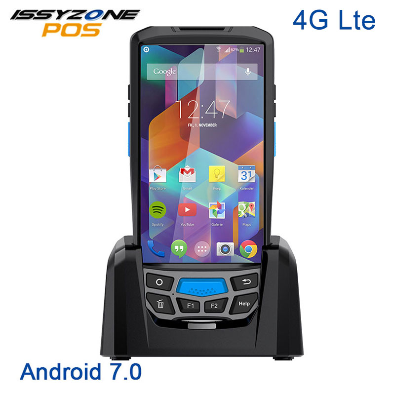 купить ISSYZONEPOS 1D 2D Barcode Scanner Wireless POS Terminal WIFI Bluetooth QR Bar Code Scanner GPS NFC UHF RFID Industrial PDA по цене 23423.78 рублей