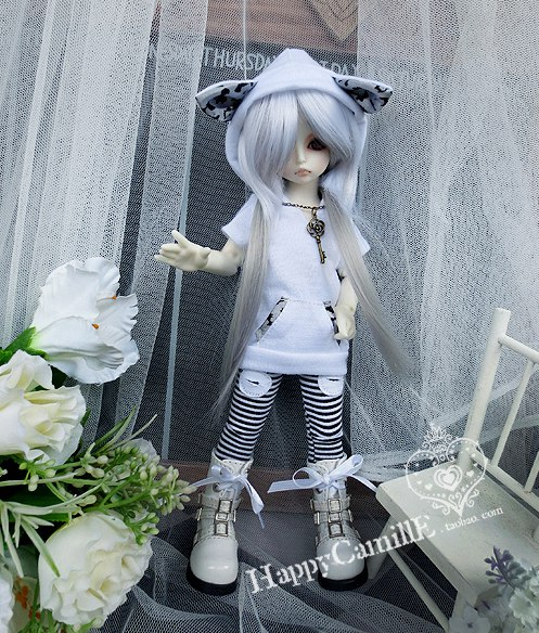1/6 1/4 scale BJD doll clothing Hooded T-shirt Top+pants for BJD YOSD MSD accessory.Not included doll,shoes,wig and other C3416 unisex irregular long t shirt for bjd doll 1 6 yosd 1 4 msd 1 3 sd10 sd13 sd16 sd17 uncle luts dod as dz sd doll clothes cwb7