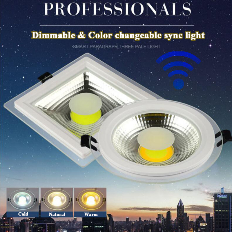 Downlights Rayway New Dimmable Sync Cob Ceiling Down Light Recessed Led Panel Lamp 2.4g Wireless Remote Glass Indoor Downlights Ac85v-265v Back To Search Resultslights & Lighting