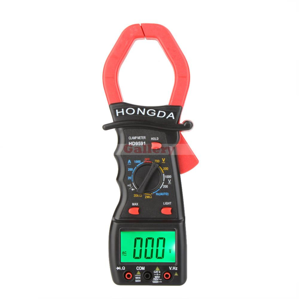 Hd Hd9591 Digital Clamp Meters Multimeter Ammeter Voltmeter Ohmmeter W Frequency Test & Lcd Backlight Professional Testers