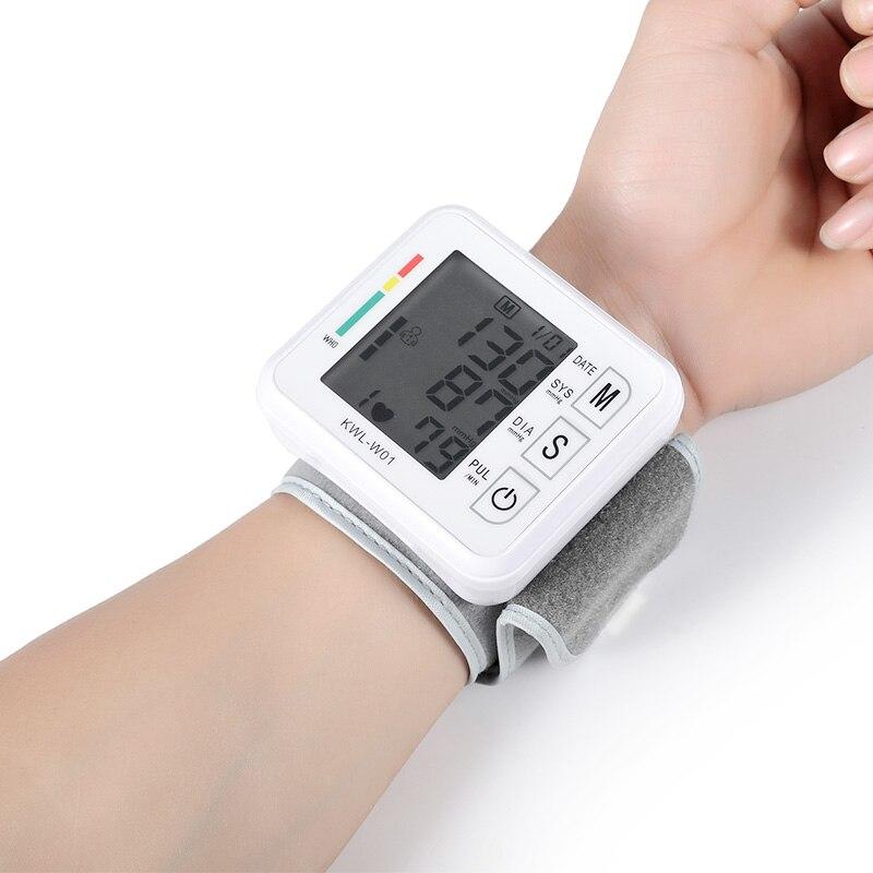 Medizinische Handgelenk Blutdruck Monitor Maschine Automatische Tonometr Tensiometro Digitale Bp Herz Rate Monitor Handgelenk Blutdruckmessgerät
