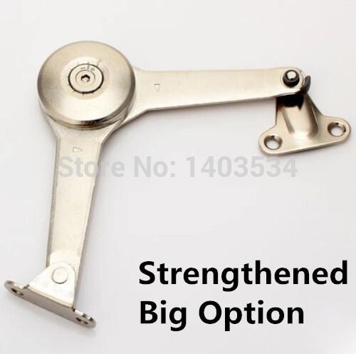Acabado brillante aleación de zinc cromado reforzado Arbitraria stop soporte de la puerta del gabinete bisagra hidráulica