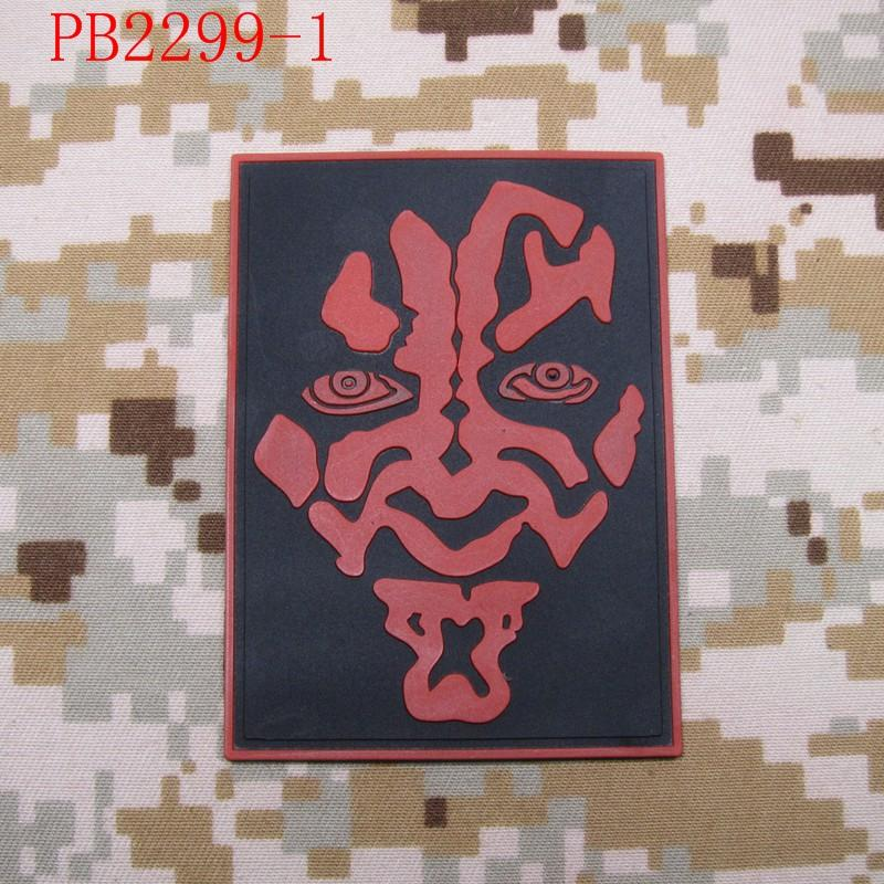 darth maul Logo Tactical Morale 3D PVC patch White Red Grey - Արվեստ, արհեստ և կարի - Լուսանկար 6