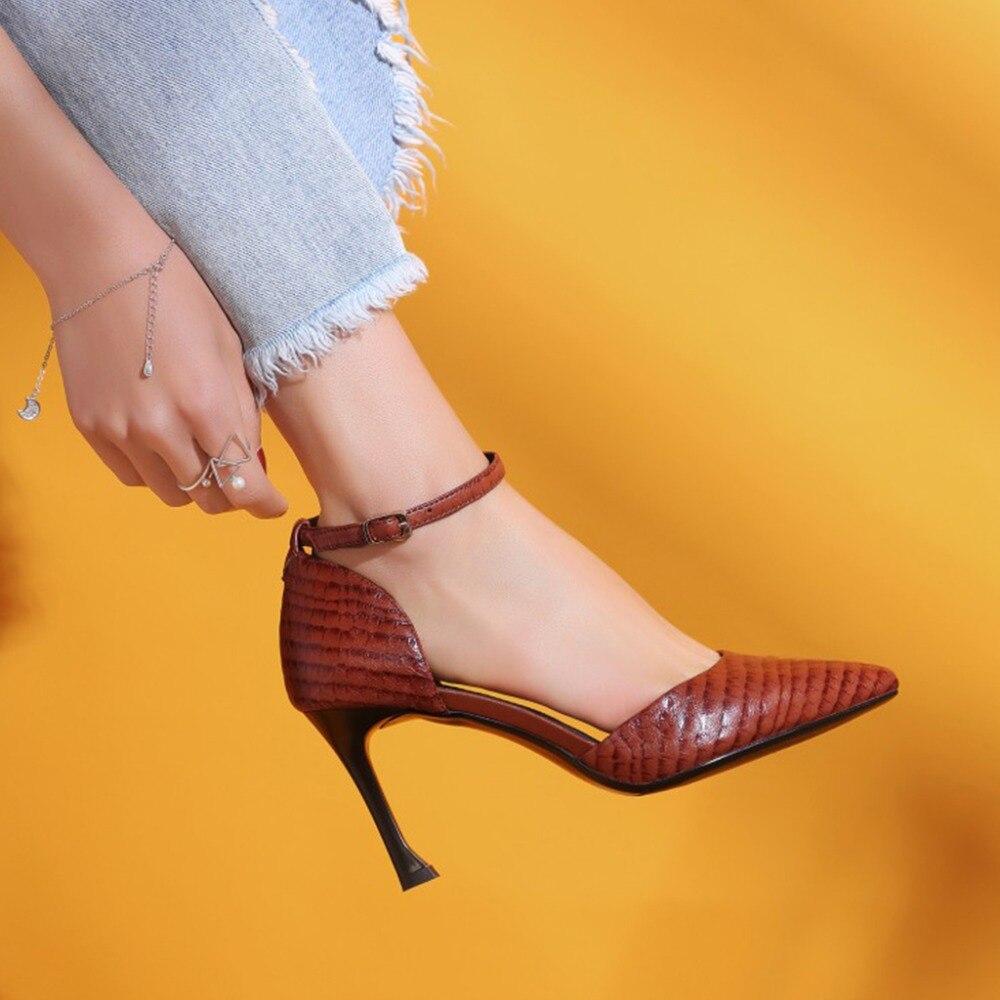 Full Roma Altos Zapatos Black Bombas brown Cm Correa Kvphan Tacones Mujeres  Oficina La Punta Señora ... 241c0dfbc378