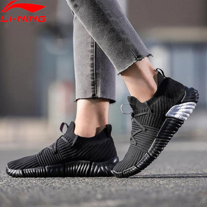 Li-Ning Women RE-FIT Lifestyle Shoes Breathable Mono Yarn LiNing Li Ning Light Sport Shoes Fitness Sneakers AGLN068 YXB207