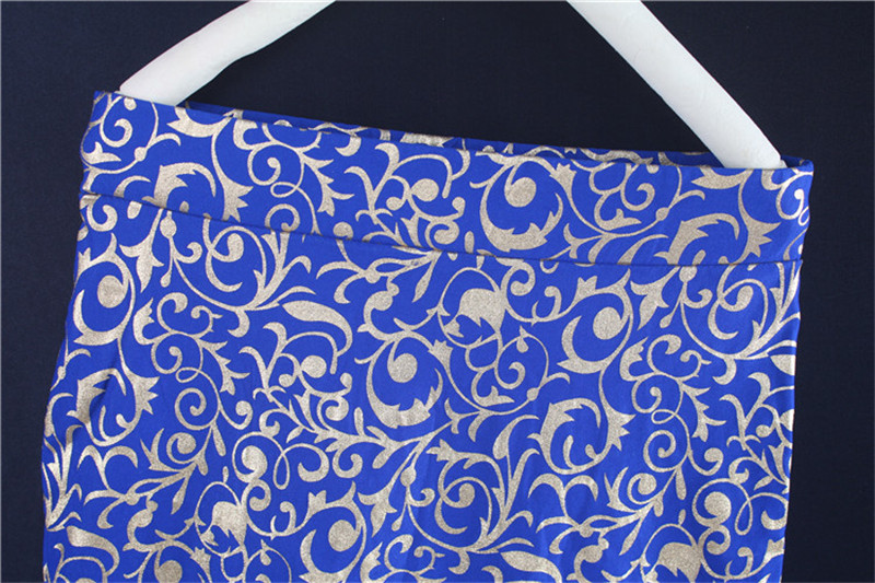 Fashion Gilding Pattern long muslim skirt long skirts for muslim women B2302