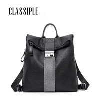 2019 New Fashion Women Backpack Female Backpacks Leather Pu Soft Travel Bag High Capacity Students School Bag Backpack Ladies