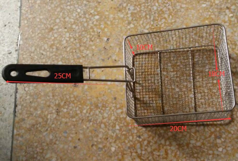 Stainless Steel Chips Fryer Basket Kitchen Cooking Tool Frying basket salter air fryer home high capacity multifunction no smoke chicken wings fries machine intelligent electric fryer