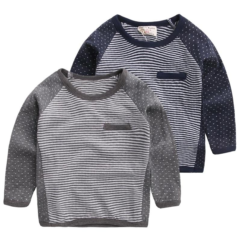 Children Clothing Kids Long Sleeve Striped T Shirt For Boy