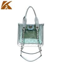 Transparent Jelly Tote Bags Handbags Woman Small Chain Shoulder Bag Top Handle Hand Bag Women Summer