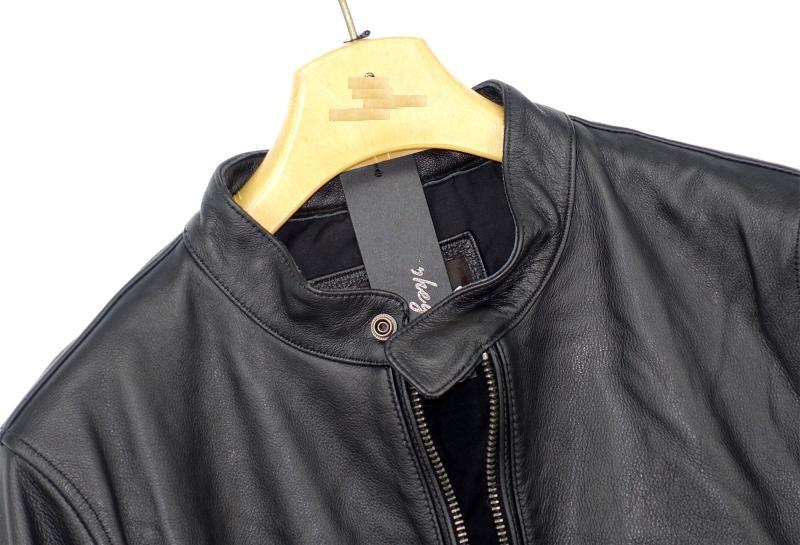 Highend mans echte koe lederen jas korte motorjas voor volwassen mannelijke vintage afwerking kort zwart plus oversized 4xl - 5