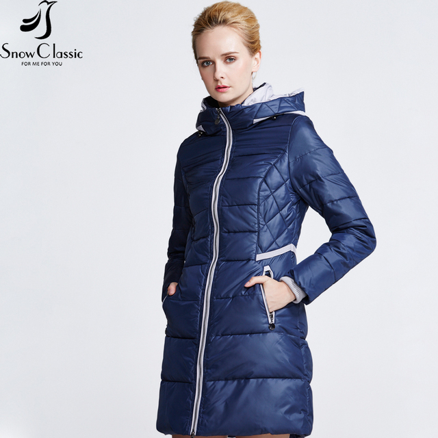Botas de nieve Clásico de invierno Chaqueta Acolchada chaqueta de las mujeres 2016 de Moda Femenina Gruesa Chaqueta Larga Parkas para Las Mujeres 15147