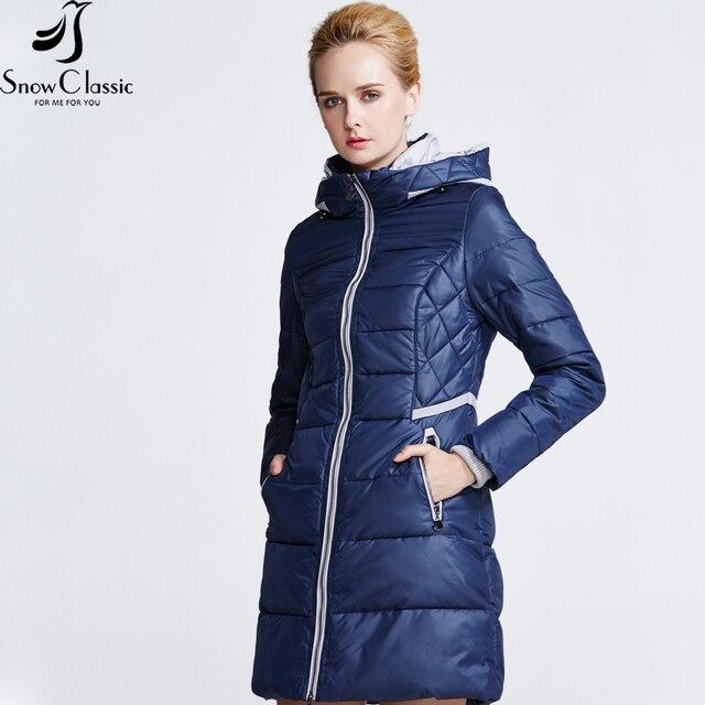 Snow Classic Новая Коллекция зимы пуховик зимний женский Куртка оригинального покроя стопроцентный полиэстр Утепленная парка пуховик в европейском стиле для женщин 15147