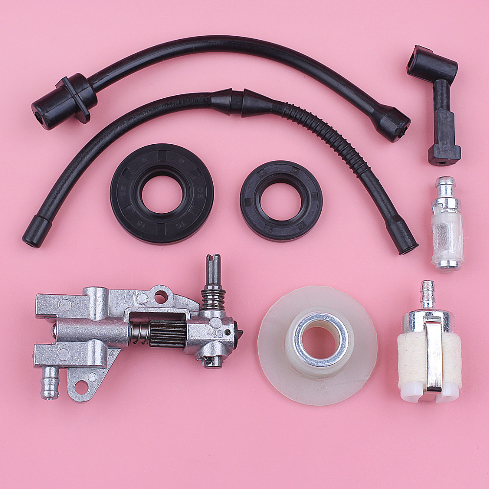 Fuel Oil Filter Line Pump Worm Gear Seal For Chinese 4500 5200 5800 45cc 52cc 58cc Chainsaw Tool Replace Spare Part