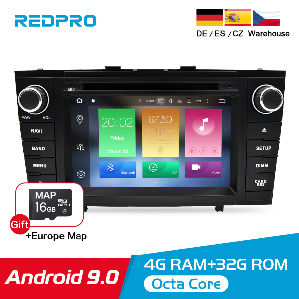 "7"" Android 9.0 Car Stereo Radio For Toyota T27 Avensis 2009 2014 2 Din DVD GPS Navigation Wifi FM DAB+Headunit Bluetooth 4G RAM-in Car Multimedia Player from Automobiles & Motorcycles"