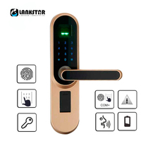 Handle Lock Electronic Locks Smart Cylinder Door Lockset Entrance Door Intelligent Lock Fingerprint Password Keyed Smart Locks