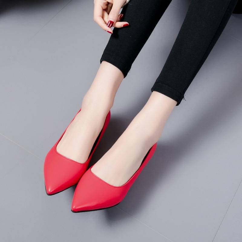 Boca Zapatos rojo negro Versión Verano Trabajo Moda Primavera Baja 2019 Nueva Y Individuales Beige Salvaje De Coreana zvqnSwaU