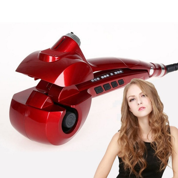 Titanium Auto Hair Curler With Steam Spray Hair Care Styling Tools Ceramic Wave Magic Curling Iron Hair Styler auto ploy titanium hair curler steam spray styler ceramic wave magic curling iron hair styler factory cheap wholesale