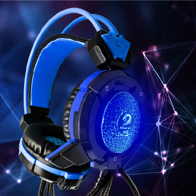 Computer Game Headphone Stereo Surround Earphones Gaming Headset With Mic Stereo Bass LED Light Headphones for PC Game Dota PS4 rock y10 stereo headphone microphone stereo bass wired earphone headset for computer game with mic