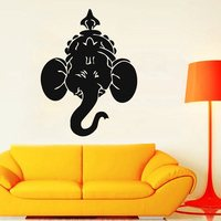 DCTAL Yoga Club Sticker Elephant Decal Hinduism Patanjali Posters Yug Vinyl Wall Decals Parede Decor Yoga Sticker