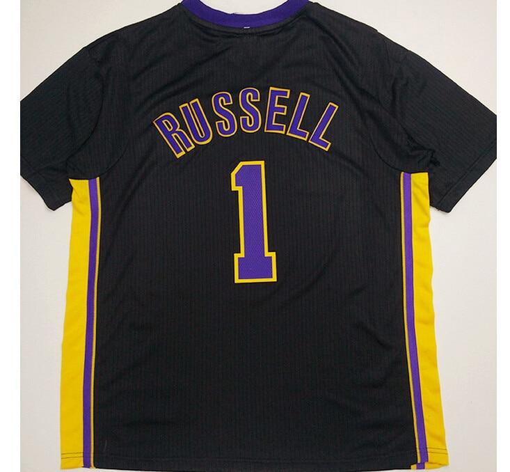 13cf3923adcd ... 2016 New Mens 1 DAngelo Russell Jerseys Cheap White Yellow Purple Black Basketball  Jersey Best Quality ...
