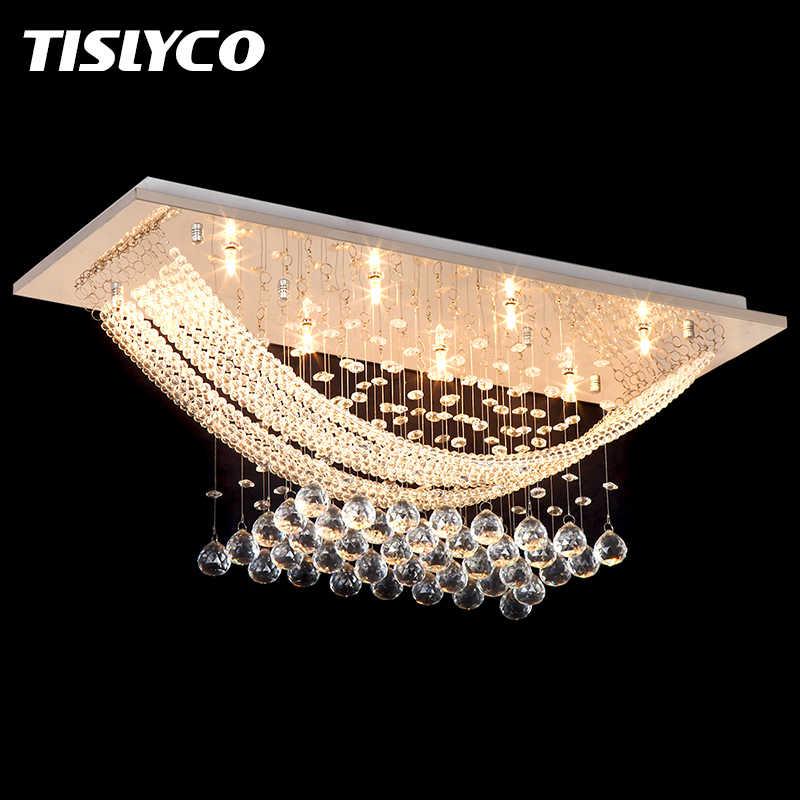 Роскошная хрустальная люстра, светильник, хрустальный свет, люстры для гостиной, потолочный светильник, бесплатная доставка