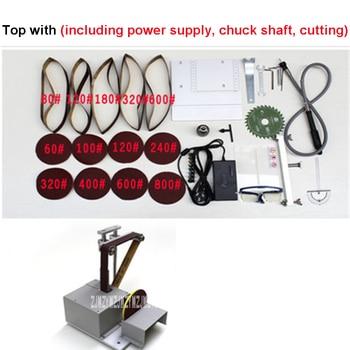 New Multifunctional Micro Belt Machine DIY Mini Polisher Desktop Sandpaper Machine Electric Polisher 110-220V 96W 2500-5000 rpm