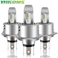 YHKOMS Super Bright H4 LED H7 H8 H9 H11 9005 9006 H1 HB3 HB4 Car Headlight Bulbs High Low Beam 30W 6000LM Mini Size 6500K 12V