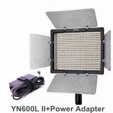 YONGNUO YN600L II CRI95 светодиодный свет Панель с AC Адаптеры питания Регулируемый 3200 К-5500 К YN-600L II LED Студийный свет