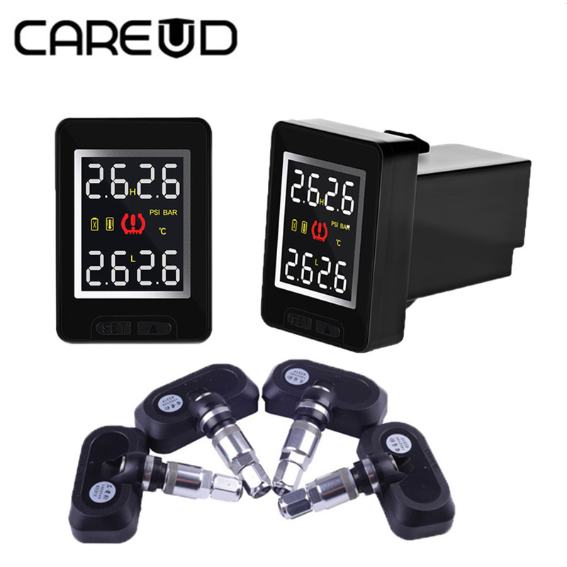 Car TPMS Tire Pressure Monitor System LCD Display Auto Alarm for Toyota Honda Nissan Mazda with