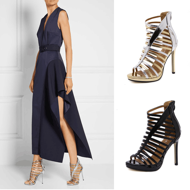 womens pump shoes gold stilettos strappy high heels sexy pumps ankle strap heels pumps wedding shoes gold sandals heels X304