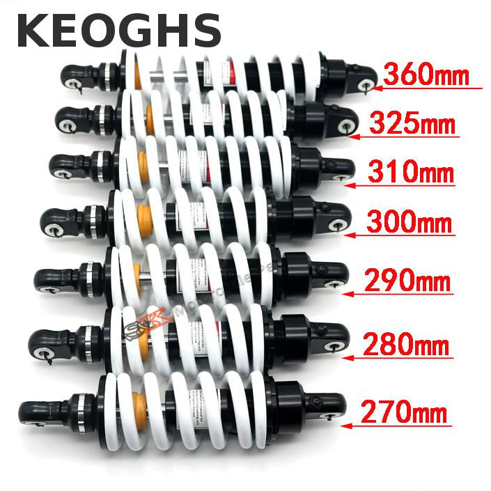 KEOGHS Dirt Pit Bike Rear Shock Absorber Rebound Damping Adjustable 270mm 280mm 290mm 300mm For Motocross Honda Yamaha Kawasaki 320mm motorcycle fork rear nitrogen shock absorber for bws100 bws125 rd250 350 pit atv scooter motorbike colorful
