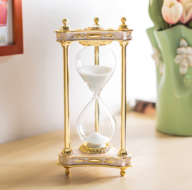Clocks Home & Garden European Style Zinc Alloy Hourglasses Sand Timer For Home Coffee Bar Decoration Adornment Birthday Gift Desk Decoration Lfb888 Strong Resistance To Heat And Hard Wearing