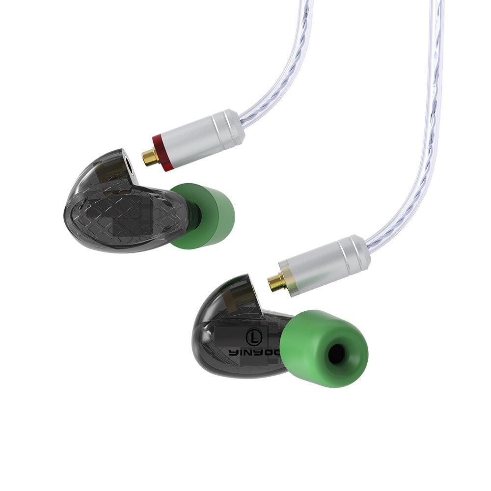 Image 5 - AK YINYOO T500 5BA Balanced Armature In Ear Earphone HIFI Monitoring Earphone Detachable MMCX Cable DJ Sport Earbud Headplug-in Earphones from Consumer Electronics