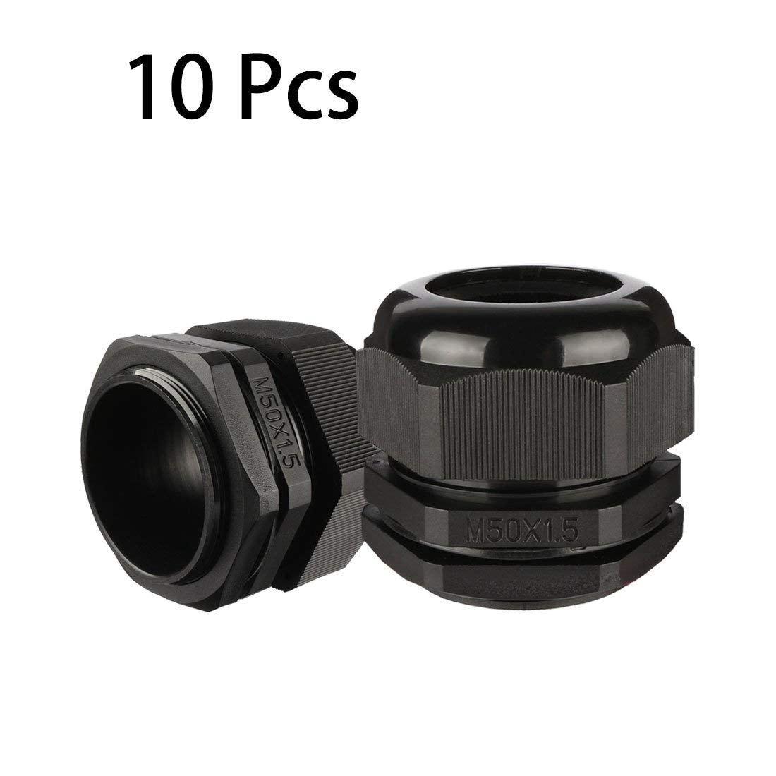 10 шт. M50 водонепроницаемый IP68 нейлоновый кабельный сальник регулируемый фиксатор для 32 мм-38 мм диаметр Кабельный провод Прямая поставка