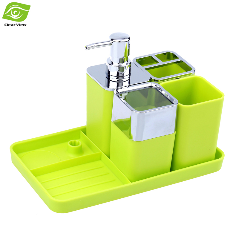 plastic bathroom accessories set com