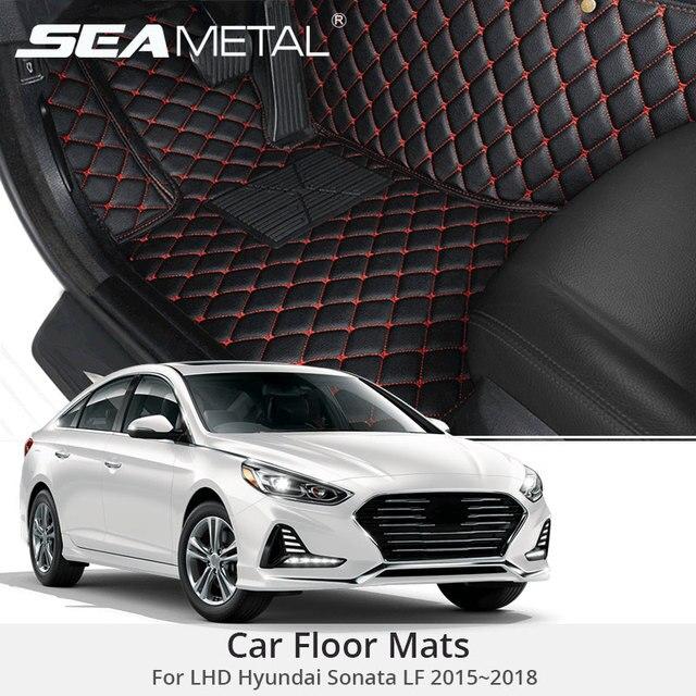 For Lhd Hyundai Sonata Lf 2018 2017 2016 Car Floor Mats Custom Rugs Auto Interior Leather Foot Mat Accessories Styling