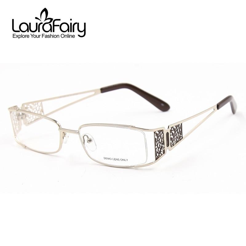 Laura Fairy Fashion Hollow Design Wide Temples Women Eyeglass Frame ...