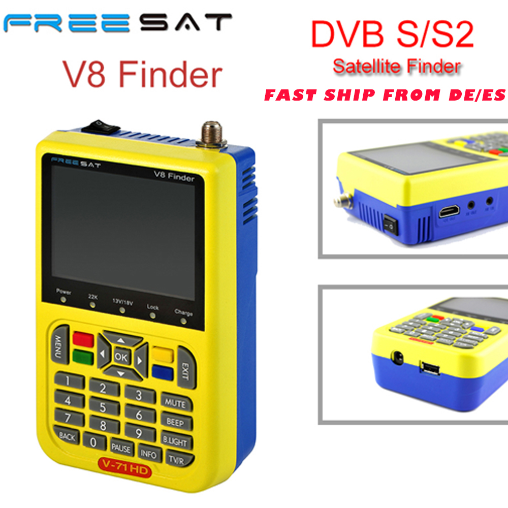 Free sat satellite Finder V8 100% Original Freesat V8 Finder HD DVB-S2 High Definition Satellite Finder MPEG-2 MPEG-4 FREESAT V8 sat integral s 1221 hd stealth купить есть в наличии