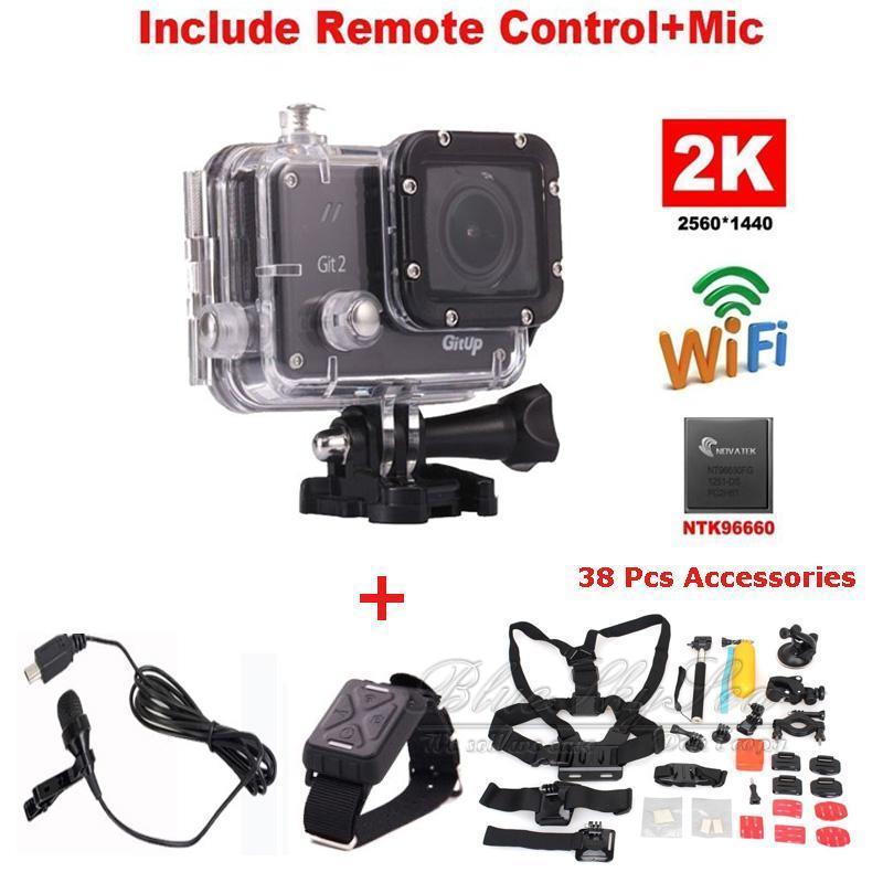 Gitup Git2 2 к Wi Fi Действие Cam спортивная видеокамера Onderwater видеокамера + дополнительный микрофон наручные дистанционное управление 30 шт. интимны