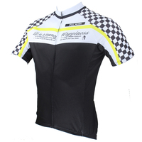 2015 New White Black Short Sleeve Men Cycling Jersey Bicycle Bike Wear Shirt Size S XXXL