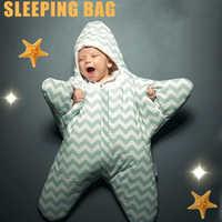 Carrinho de bebê Saco de Dormir Inverno Quente Robe Para Envelopes Para Recém-nascidos Infantil Cadeira de Rodas Estrelas Do Mar Footmuff Sleepsacks Bebê Dormir saco de dormir carrinho de boneca saco de dormir para beb