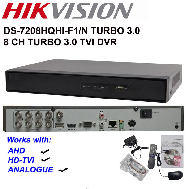 Hikvision DS 7208HQHI F1/N 8CH Turbo HD DVR Support HD TVI