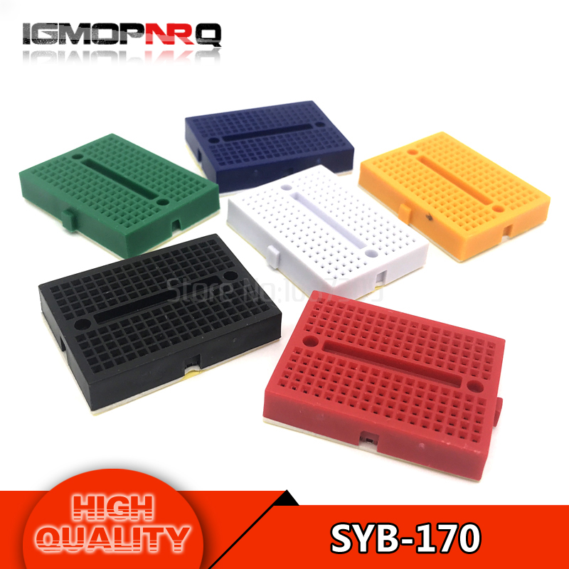 5PCS SYB-170  Solderless Breadboard Prototype Experiment Test Protoboard 170 Tie-Points 6 Colors to choose5PCS SYB-170  Solderless Breadboard Prototype Experiment Test Protoboard 170 Tie-Points 6 Colors to choose