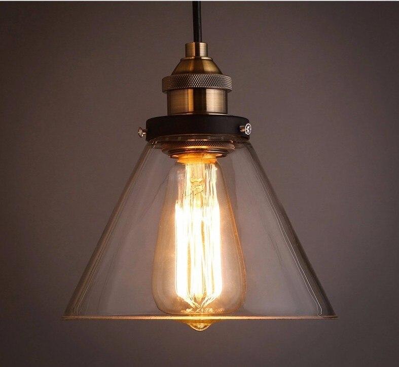Suspension Vintage en verre clair suspension suspension E27 lampe de table à manger pour salle à manger décor à la maison planétarium
